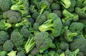 Broccoli Florets waiting to be chopped. They need to be smaller for this pasta dish